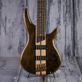 Ibanez SR1825E Premium 4-String Electric Bass, Natural Low Gloss, front closeup