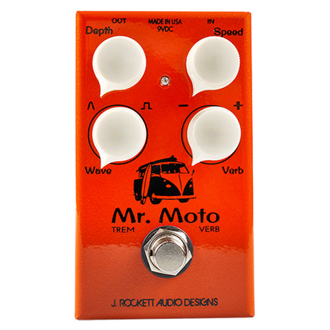J. Rockett Mr. Moto Tremolo & Reverb Pedal