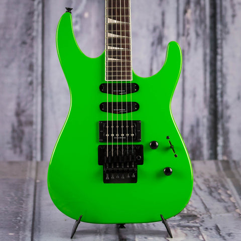 Jackson X Series Soloist SL3X Electric Guitar, Slime Green, Demo Model, front closeup
