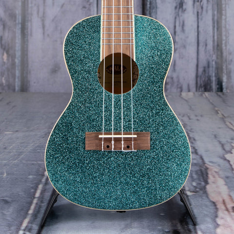 Kala Sparkle Series Concert Ukulele, Rhapsody In Blue, front closeup