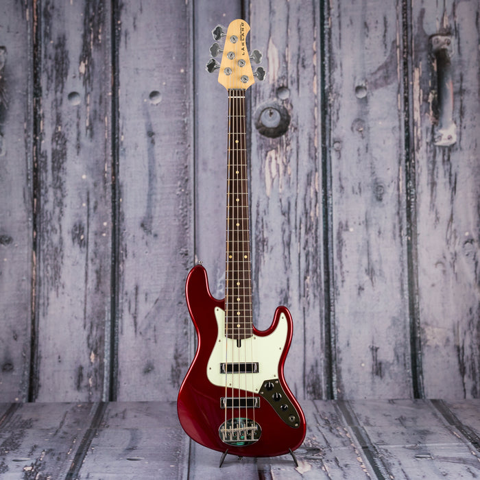 Lakland Skyline J-Sonic 5 bass - Candy Apple Red