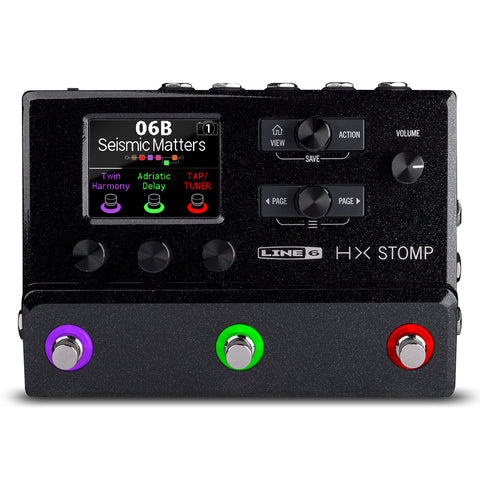 Line 6 HX Stomp Compact HX Modeling Guitar Processor, top