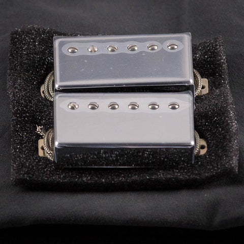 Lollar Imperial Humbucker Neck & Bridge Pickup Set, Chrome, front closeup