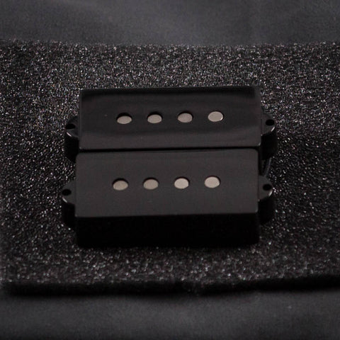 Lollar Overwound Precision Bass Split-Coil Pickup Set, Black, front closeup
