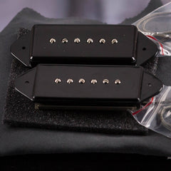 Lollar P-90 Dogear Neck & Bridge, Black