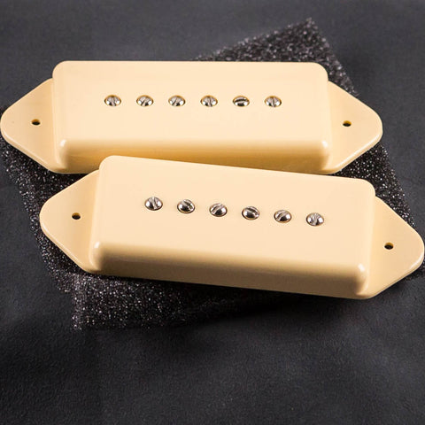 Lollar P-90 Dogear Single-Coil Neck & Bridge Pickup Set, Cream