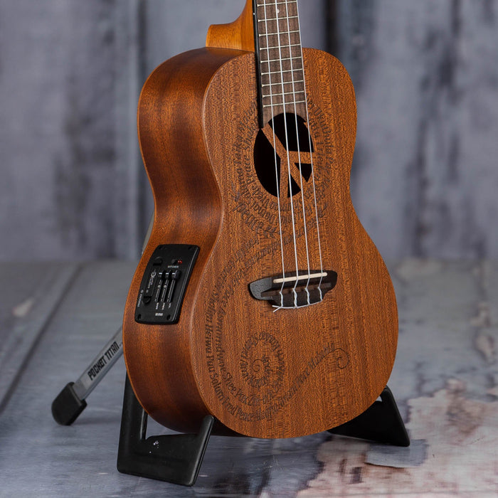 Luna Concert Maluhia Peace Acoustic/Electric Uke, Natural