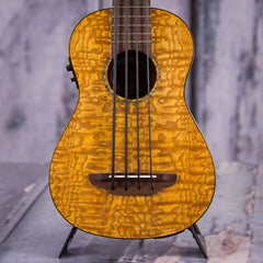 Luna Quilt-Ash Bari-Bass Acoustic/Electric Uke, Satin Natural