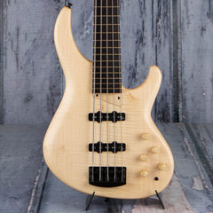 MTD Saratoga Flame Sycamore 5-String Bass, Satin Natural
