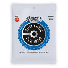 Martin Authentic Acoustic SP Strings, MA540, Light