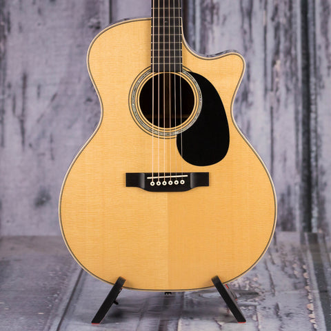 Martin Custom GP-14 Acoustic/Electric Guitar, Natural, front closeup
