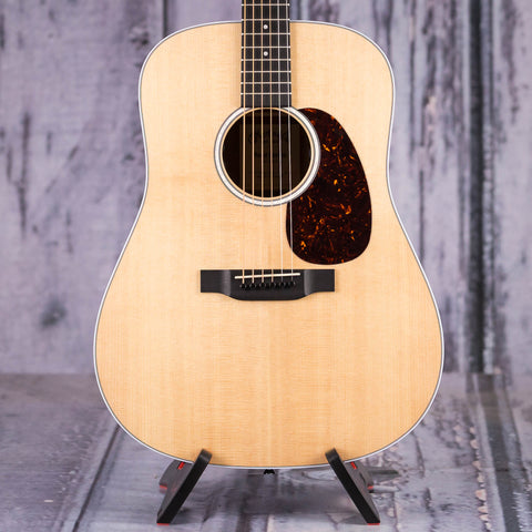 Martin D-13E Dreadnought Acoustic/Electric Guitar, Natural, front closeup