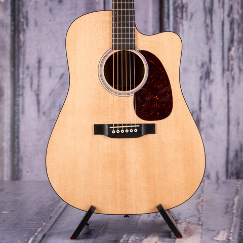 Martin DCPA4 Acoustic/Electric Guitar, Natural, front closeup