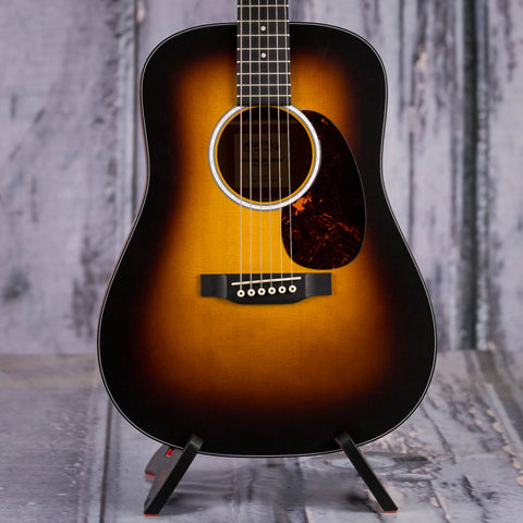 Martin DJR-10 Dreadnought Junior Acoustic Guitar, Sunburst, front closeup