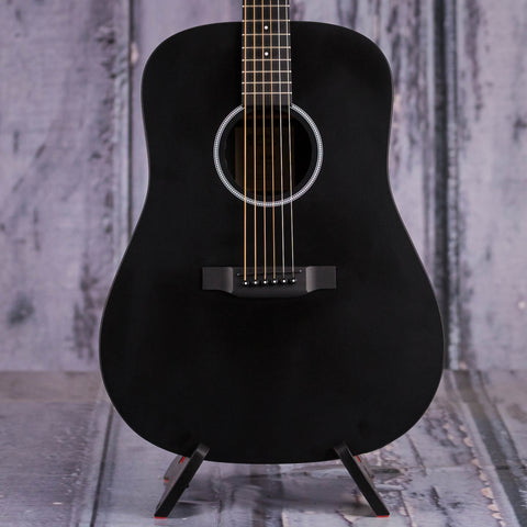 Martin DXAE Dreadnought Acoustic/Electric Guitar, Black, front closeup
