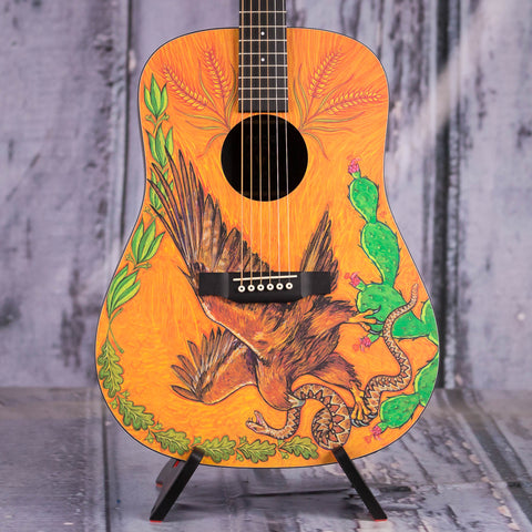 Martin DXMAE Dreadnought 30th Anniversary Acoustic/Electric Guitar, Custom Design, front closeup
