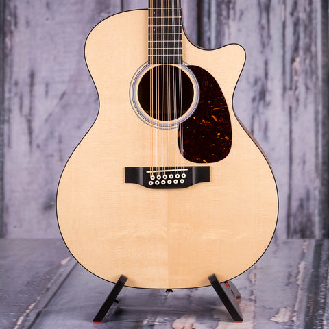 Martin GPC12PA4 12-String Acoustic/Electric Guitar, Natural, front closeup