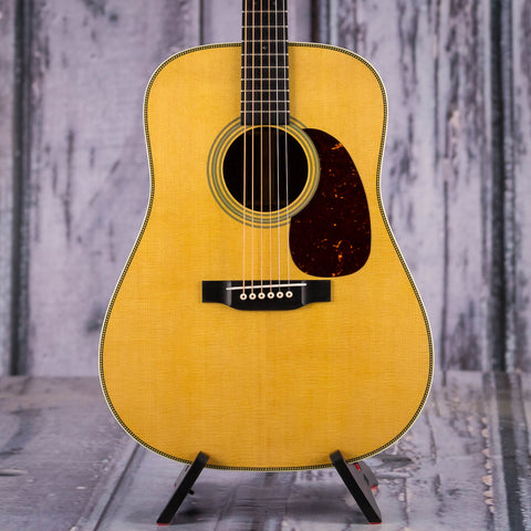Martin HD-28V Dreadnought Acoustic Guitar, 2019, Natural, front closeup
