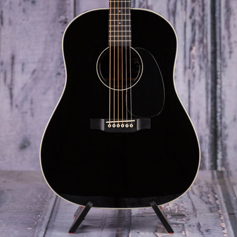 Martin Jimmy Buffett Custom D-14 Acoustic/Electric Guitar, Black, front closeup