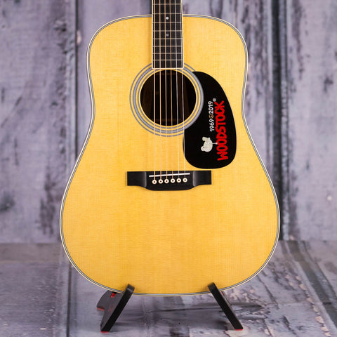 Martin Limited Edition D-35 Woodstock 50th Anniversary Acoustic Guitar, Natural, front closeup