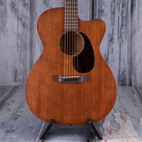 Martin OMC-15ME Acoustic/Electric Guitar, Dark Mahogany, front closeup