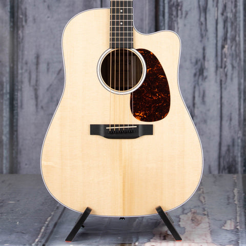 Martin Road Series DC-13E Acoustic/Electric Guitar, Natural, front closeup