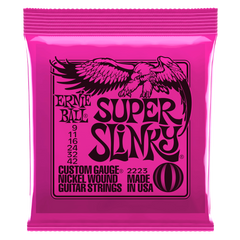Ernie Ball SUPER SLINKY NICKEL WOUND ELECTRIC GUITAR STRINGS