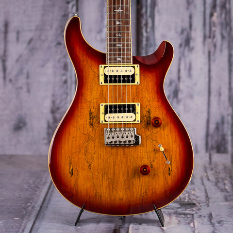 Paul Reed Smith SE Custom 24 Exotic Top, Vintage Sunburst, front closeup