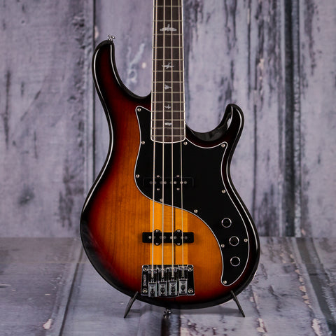 Paul Reed Smith SE Kestrel Bass, Tri-Color Sunburst, front closeup