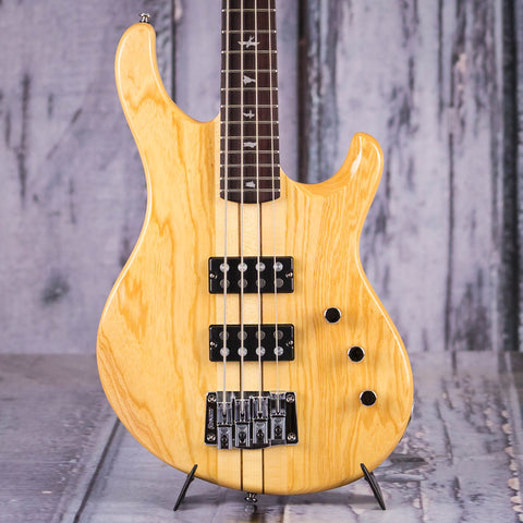 Paul Reed Smith SE Kingfisher Electric Bass, Natural, front closeup