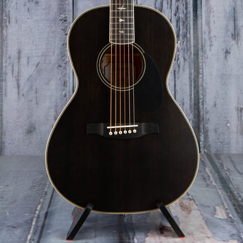 Paul Reed Smith SE P20E Acoustic/Electric Guitar, Charcoal, front closeup