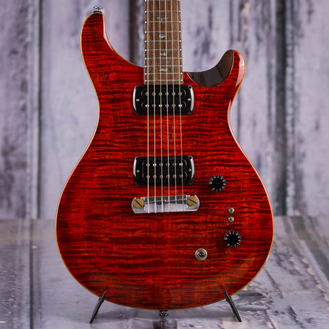 Paul Reed Smith SE Paul's Electric Guitar, Fire Red, front closeup