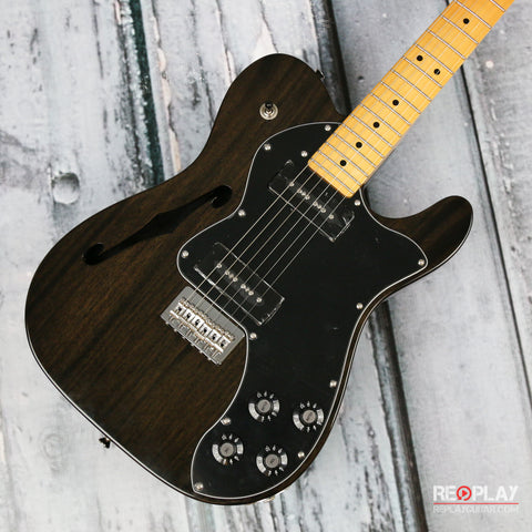 Fender Modern Player Telecaster Thinline Deluxe (Black Transparent)