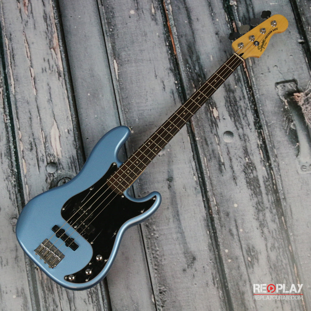 squier vintage modified precision bass pj lake placid blue replay guitar exchange. Black Bedroom Furniture Sets. Home Design Ideas