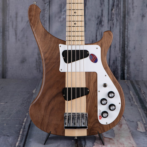 Rickenbacker 4003S/5W 5-String Electric Bass Guitar, Walnut, front closeup