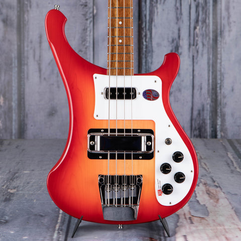 Rickenbacker 4003S Electric Bass Guitar, Fireglo, front closeup