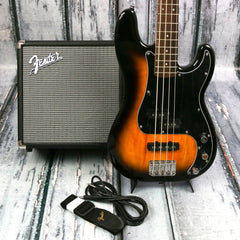Squier Affinity PJ Brown Sunburst Bass Pack