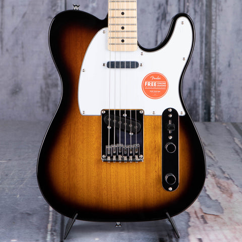 Squier Affinity Series Telecaster Electric Guitar, 2-Color Sunburst, front closeup