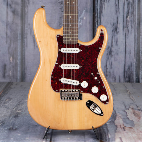 Squier Classic Vibe '70s Stratocaster Electric Guitar, Natural, front closeup