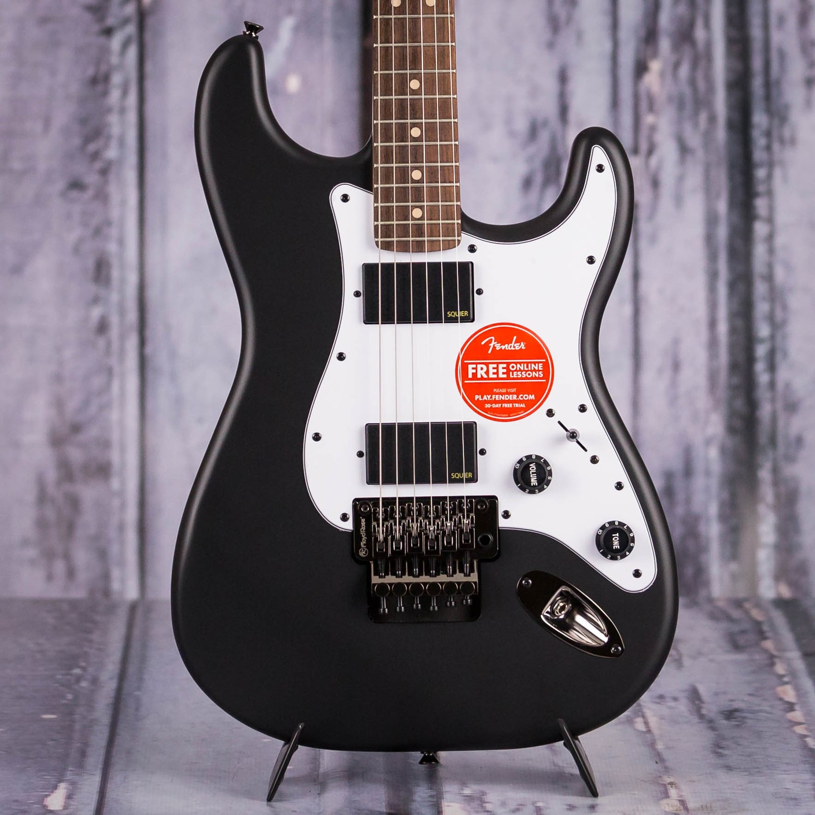 Squier Contemporary Active Stratocaster, Flat Black | For ... on