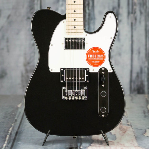 Squier Contemporary Telecaster HH Electric Guitar, Black Metallic, front closeup