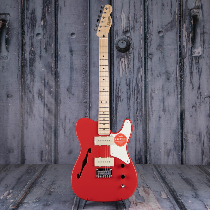 Squier Paranormal Cabronita Telecaster Thinline Semi-Hollowbody, Fiesta Red
