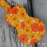 Kics Ukulele (Orange Flower Burst)