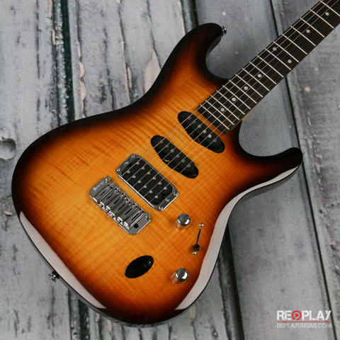 Used - Ibanez SA160FM (Brown Burst)
