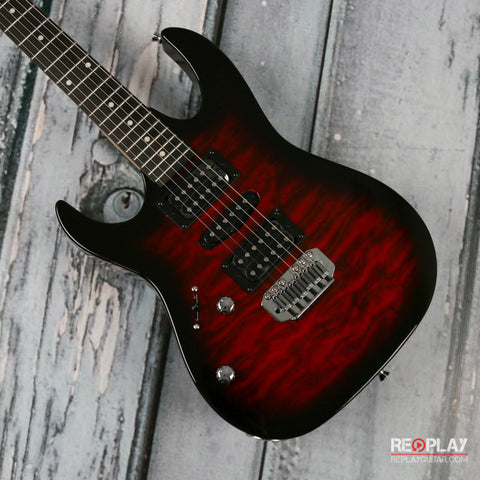 Ibanez GIO Lefty GRX70QA Transparent Red Sunburst