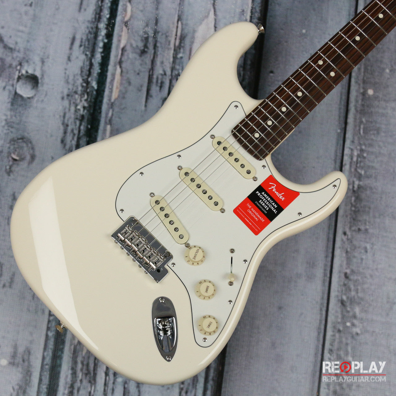 fender stratocaster olympic white for sale replay guitar. Black Bedroom Furniture Sets. Home Design Ideas