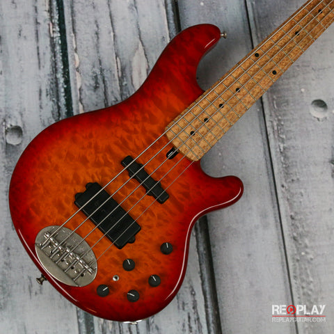 Used - Lakland 55-94 Deluxe 5-String (Quilted Cherryburst)