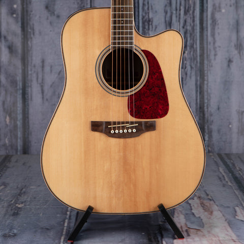 Takamine GD93CE Dreadnought Acoustic/Electric Guitar, Natural, front closeup