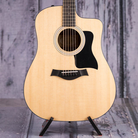 Taylor 110ce Dreadnought Acoustic/Electric Guitar, Matte Natural, front closeup