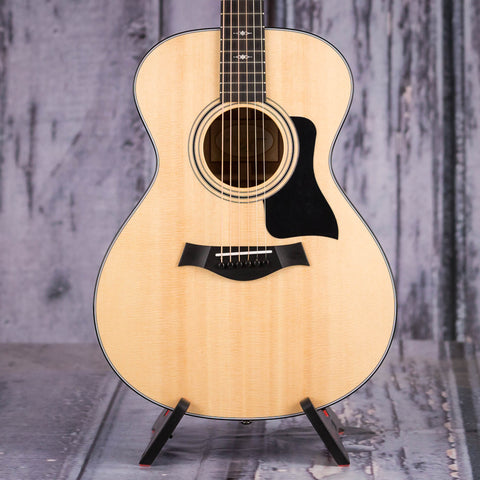 Taylor 312 Grand Concert Acoustic Guitar, Natural, front closeup